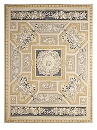 French Accents Empire Aubusson (Blue/Gold Multi)