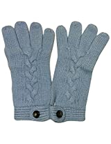 Graceway Unisex Cable Gloves (5G17, Blue)