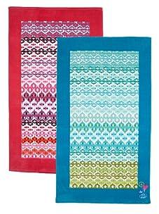 "Steve Madden Set of 2 Starr Stripe Beach Towels, 40"" x 70"""