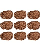 Pro Corp Pure Cow Dung Cakes, Brown, 20.32 cm x 3 cm x 20.32 cm, Set of 9