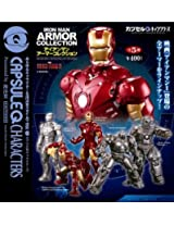 Kaiyodo Capsule Q Characters Iron Man Aromor Collection (5 Pcs Complete Set)