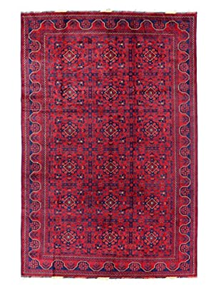 Bashian Rugs One-of-a-Kind Hand Knotted Afghan Rug, Red, 6' 5