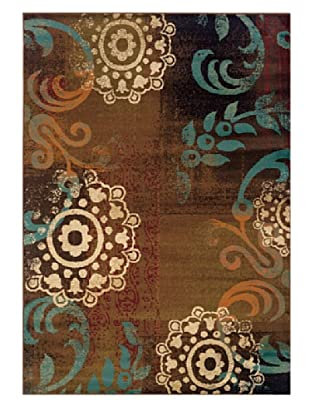 Granville Rugs Aiden Rug (Brown/Multi)