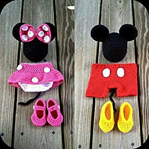 HighKnit Tini Wini Mickey Minnie Baby Set
