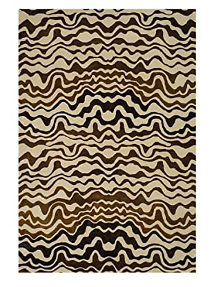 Safavieh Soho Collection Tribal New Zealand Wool Rug (Beige/Brown)