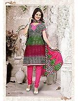 Alluring Black Cotton Salwar Kameez