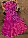 Bandhej print silk Jaipuri saree