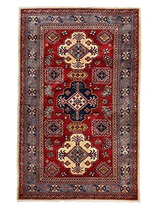 Darya Rugs Fine Kazak Oriental Rug, Red, 4' 2