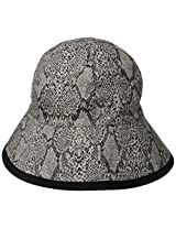 San Diego Hat Company Women's Reversible Reptile Skin Bucket, Brown, One Size