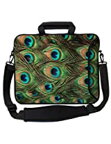 Designer Sleeves 15-Inch Executive Laptop Sleeve, Blue/Green (15ES-PEACOCK)