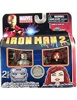 Iron Man 2 Movie Minimates Figure James Rhodes in Mark II Armor & Black Widow
