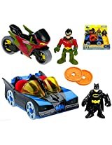 Fisher Price Imaginext Dc Super Friends Batmobile & Cycle Vehicles