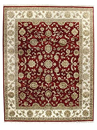 Bashian Rugs One-of-a-Kind Hand Knotted Wool/Silk Agra Rug, Red, 9' 2