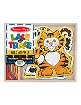 Melissa and Doug Lace and Trace Wild Animals, Multi Color