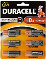 Duracell AA Alkaline Battery 1x6 Pack, multicolor