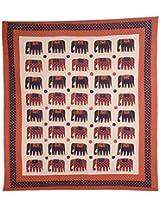 Vintage Art India Cotton Bedspread - Patchwork, King Size, Multi-Colour