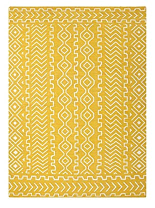 Jaipur Rugs Flatweave Tribal Pattern Rug, Yellow/Ivory, 3' 6