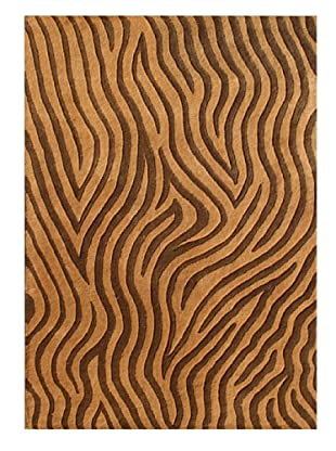 Alliyah Rugs New Zealand Wool Rug (Golden/Brown)