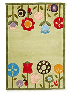 Lil Mo Retro Flowers Rug (Grass)