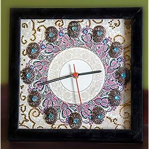 Footprints Forever Cream Mandala Clock