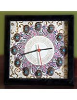 Footprints Forever Cream Mandala Clock