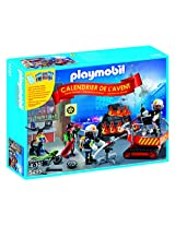 "PLAYMOBIL Advent Calendar ""Fire Rescue Operation"" Set with Card Game"