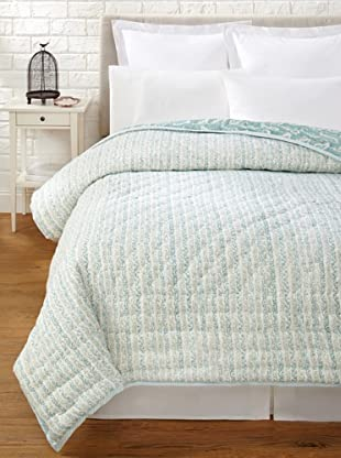 Suchiras Perfectly Paisley Quilt (Sea Green/White)