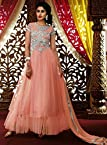 Peach Colored Anarkali Salwar Suit by Lifestyle Fashion Store - Model Number LFSUBELA8117