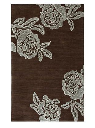 Jaipur Bed Of Roses Rug (Dark Chocolate)