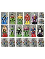 DC Comics Super Hero 12 Piece MINI Holiday Christmas Set Featuirng Superman Krypto Batman Robin Aquaman Green Lantern Flash Hawkman Joker Riddler Penguin Lex Luther - Shatterproof Ornaments Range from 2 to 3 Tall