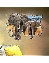 3d Elephant Wallstickers