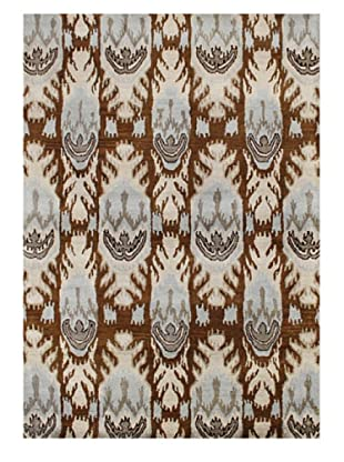 Alliyah Rugs New Zealand Wool Rug (Brown/Beige/Blue Multi)