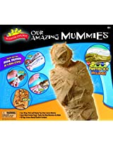 POOF-Slinky - Scientific Explorer Our Amazing Mummies Model Kit with Plaster and 48-Page Fun and Fact Manual, 8-Activities, 07452