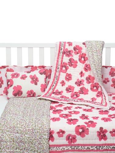 Kerry Cassill 4-Piece Crib Set (Pink/Yellow Multi)
