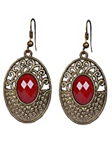 Saadi Gali Brass Dangle and drop Earring For Women (Metallic)