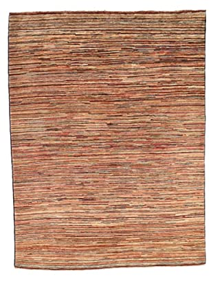 Rug Republic One Of A Kind Hand Knotted Stripped Gabbeh Rug, Multi, 4' 11