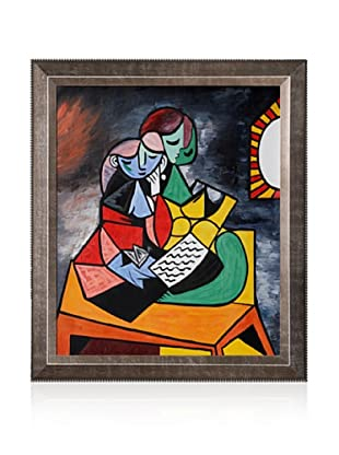 Pablo Picasso The Lesson Framed Oil Painting, 20 x 24