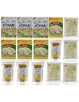 Gud2eat - 3600 gms ( Combo of 3 Jowar Flakes, 4 Jowar Idly Mix, 4 Jowar Chiwda, 4 Jowar Rawa)