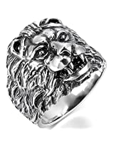 Cilver Fashion Lion head mens stainless ring for men US size 9