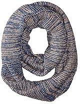 La Fiorentina Women's Textured Knit Snood Scarf, Navy, One Size