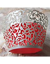 ShopAParty - Silver Vine Laser Cut Cupcake Wrappers