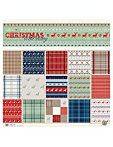 """Scrapbook & Craft Paper -Christmas In the City (12"""" by 12"""" paper)"""