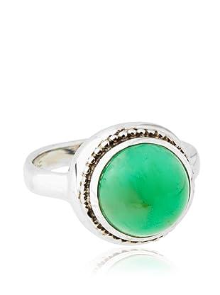 Anzie Chrysoprase Byzantine Ring, Size 6