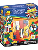 COBI Creative Power Freestyle Block Building Set, 200 Piece Set