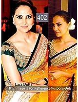 Lara Dutta Mustard Yellow Bollywood Replica Saree