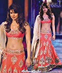 Bollywood Replica Priyanka Chopra Georgette Lehenga In Pink Colour 229