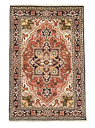 Hand-Knotted Royal Heriz Wool Rug, Copper, 4' x 6' 1