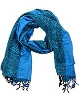 MALTDZ Women's Cashmera Scarf (Blue)