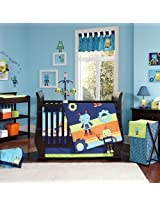 Baby Bots 5 Piece Baby Crib Bedding Set with Bumper by Nojo