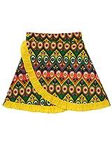 Oye Girls Wrap Skirt - Green (1-2 Y)